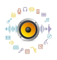 Music Icon Concept vector image