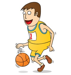 playing basketball vector image vector image