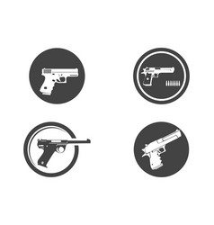 powerful pistol gun handgun vector image