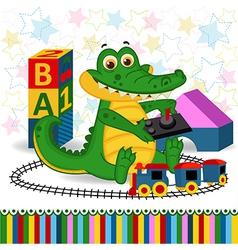 rocodile railroad vector image vector image