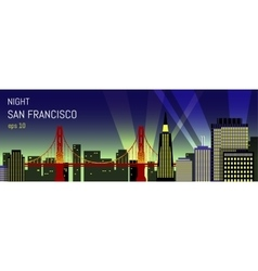 San Francisco flat Night view vector image