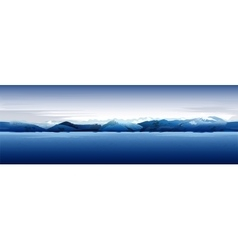 Sea and mountains blue background vector