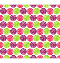 Seamless Bright Abstract Hypnotic Circles Pattern vector image