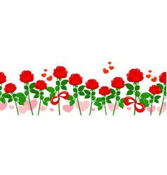 Seamless romantic roses pattern vector