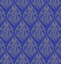 Seamless Thai pattern repetitive background vector image vector image