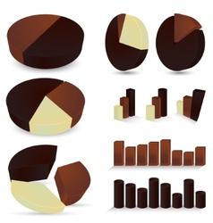 Set of chocolate diagrams vector