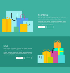 Set of two web-pages shopping vector