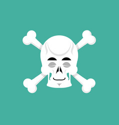 Skull and bone sleeps emoji skeleton head asleep vector