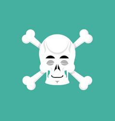 skull and bone sleeps emoji skeleton head asleep vector image vector image