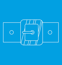 Small square buckle icon outline style vector