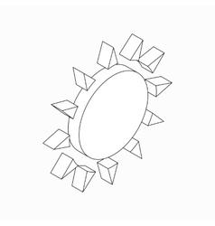 Sun icon isometric 3d style vector image