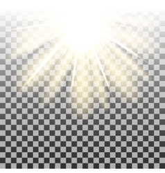 Sun rays background vector image vector image