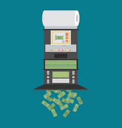 The machine makes dollar bills the financial vector