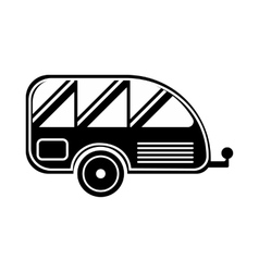 Trailer icon simple style vector
