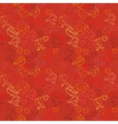 Valentine background Seamless pattern with hearts vector image vector image