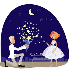 valentine stars vector image