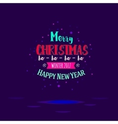 Marry christmas with ho vector