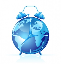 world clock vector image