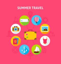 Summer travel concept vector