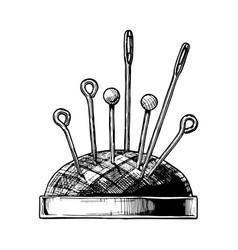 Hand drawn of pin cushion vector