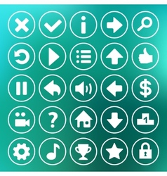 Yellow game icons buttons vector image