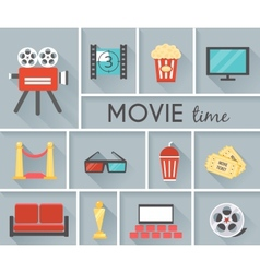 Conceptual movie time graphic design vector