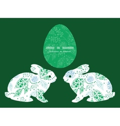 Abstract blue and green leaves bunny rabbit vector