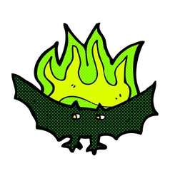 Comic cartoon spooky vampire bat vector