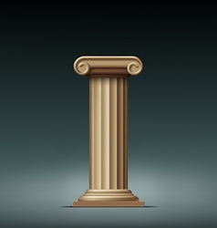 Antique beige column vector