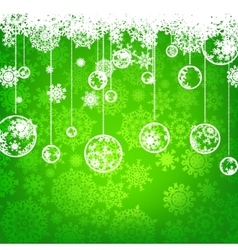 Beautiful green happy Christmas EPS 8 vector image