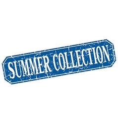 Summer collection blue square vintage grunge vector