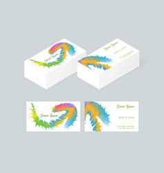 Business card template 6 vector