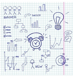 Business doodles infographic vector image vector image