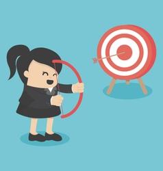 businessman archer vector image vector image