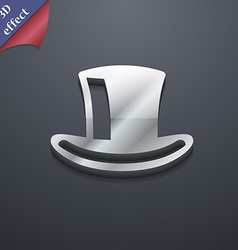 Cylinder hat icon symbol 3d style trendy modern vector