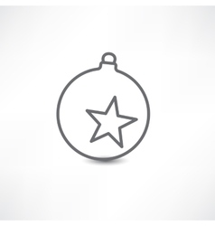 decoration on Christmas tree with star vector image vector image