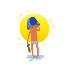 digital funny cartoon small kid vector image vector image