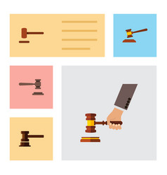 flat icon lawyer set of government building vector image vector image