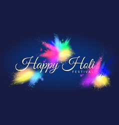 happy holi festival with colorful gulal vector image vector image
