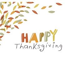 Happy Thanksgiving design Logo and corner element vector image vector image