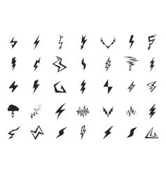 Lightning icons set vector image