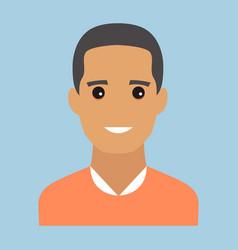 Man portrait modern avatar flat design vector