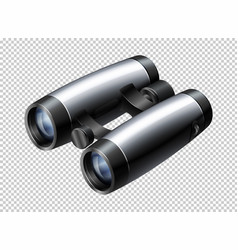 modern design of binoculars on transparent vector image