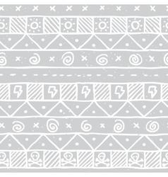 Native skull seamless pattern vector