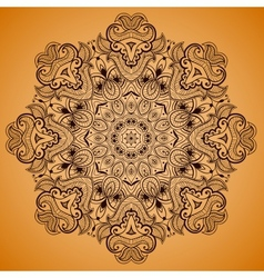Ornamental round lace pattern is like mandala 2 vector