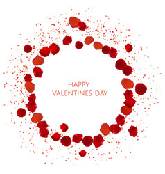 Red rose petals valentine s card background vector
