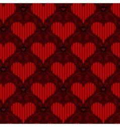 red striped heart seamless background vector image vector image