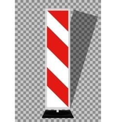 Road signs Orange Badge guardrails on transparent vector image