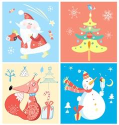 set christmas vector image vector image