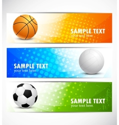 set of sport banners vector image vector image